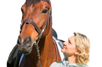 Rider with healthy horse in top condition